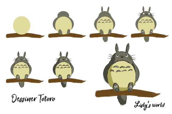 Tuto dessin : Comment dessiner totoro