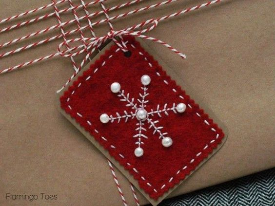 Bead & Embroidery Felt Gift Tags |: