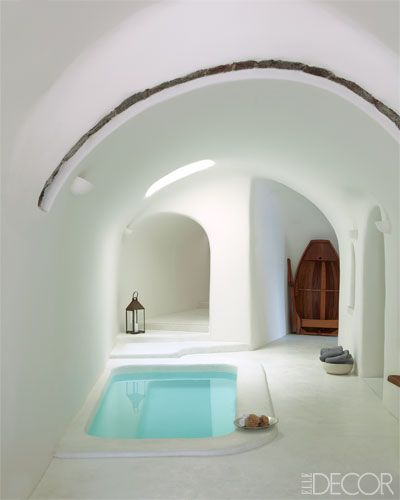Old warehouse converted into a beautiful and minimalist home. Santorini, Greece…