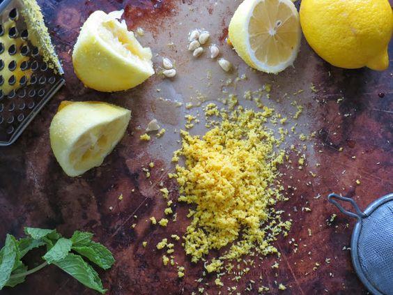 Freshly grated lemon zest and freshly squeezed juice