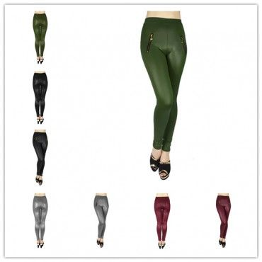 wholesale 12 pieces women fashion silky smooth leggings style 1 assorted colors
