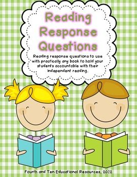 Free Reading Response Questions for practically any book!