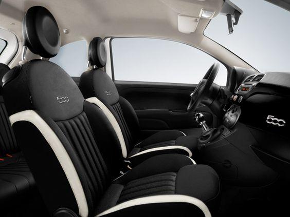 fiat 500 interior cream and black - Google Search