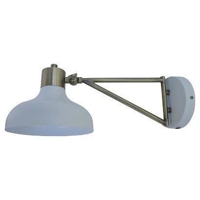 Crosby Collection Swing Arm Sconce - Threshold™ - WHITE: