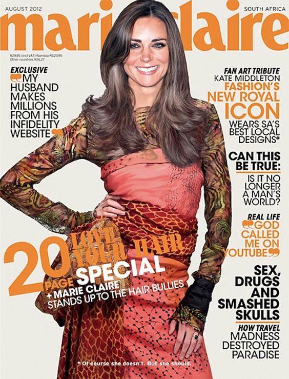 """¡Impresionante portada de Marie Claire! """"De acuerdo, no es ella, pero debería"""""""