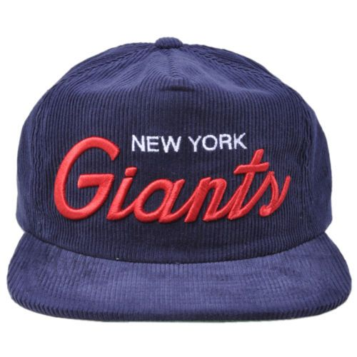 New York Giants Hat With Ball On Top
