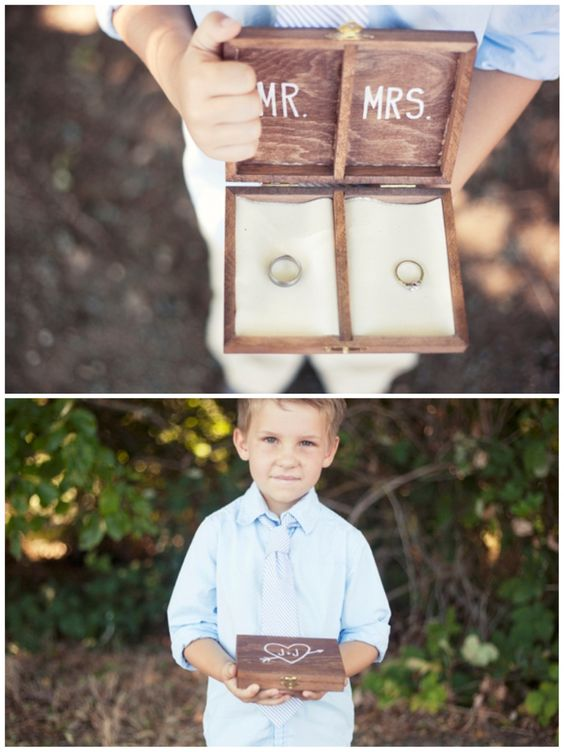 DIY Personalized Wooden Ring Bearer Box.   Super adorable idea! I'm a fan :-)