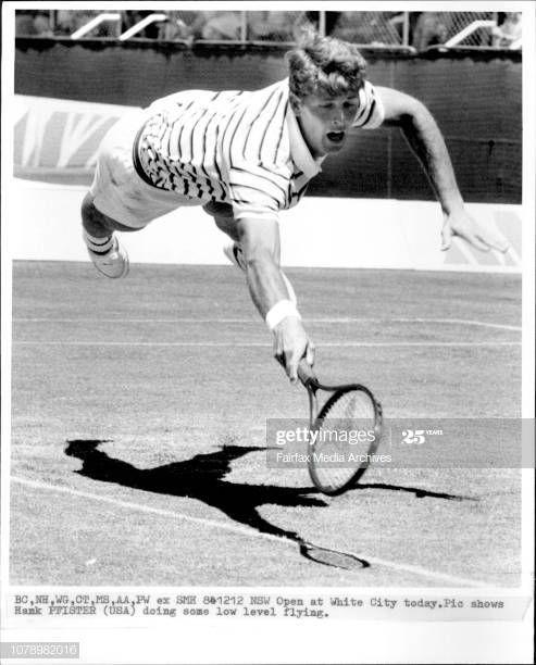 Hank Pfister Usa Tennis Zwart Wit Zwart Wit Foto S