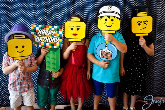 Add a Lego photo booth to your school movie night.- A unique outdoor movie night theming idea from Southern Outdoor Cinema