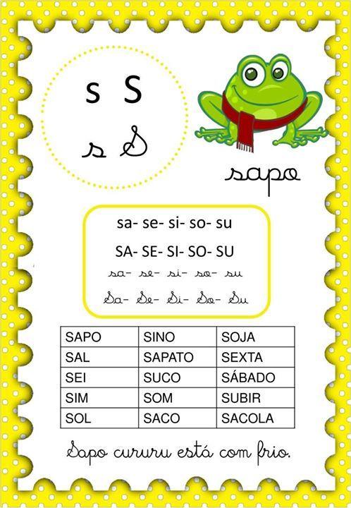 Fichas De Leitura Com Silabas Simples Com Imagens Atividades