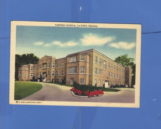 Indiana hospitals and postcards on pinterest for Iu laporte hospital