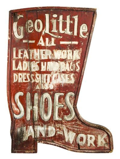 Geo Little Shoe Sign / Hand Panted
