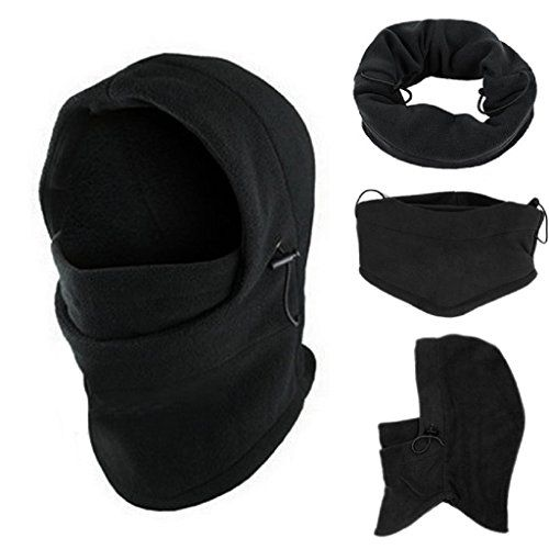 3in1 Warm Full Face Cover Winter Ski Mask Beanie Police Swat Ski Mask Black Hat