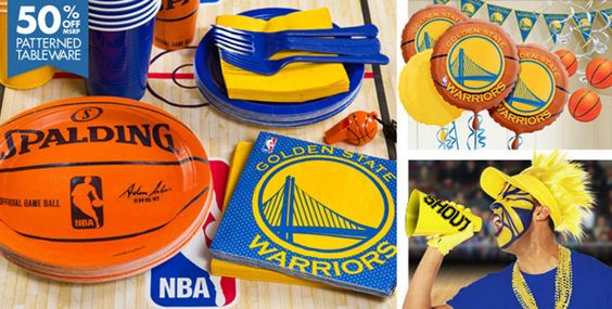 NBA Golden State Warriors Party Supplies
