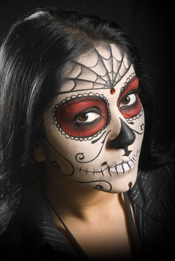 Women Skeleton Face Paint 34095 Hi-Resolution Best Free JPG - best halloween face painting ideas