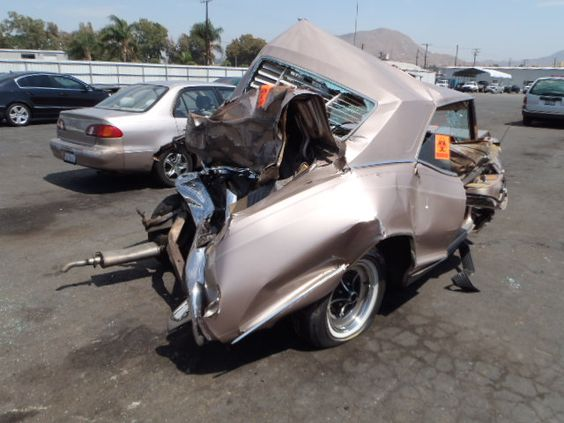 Image result for wrecked 1965 buick riviera