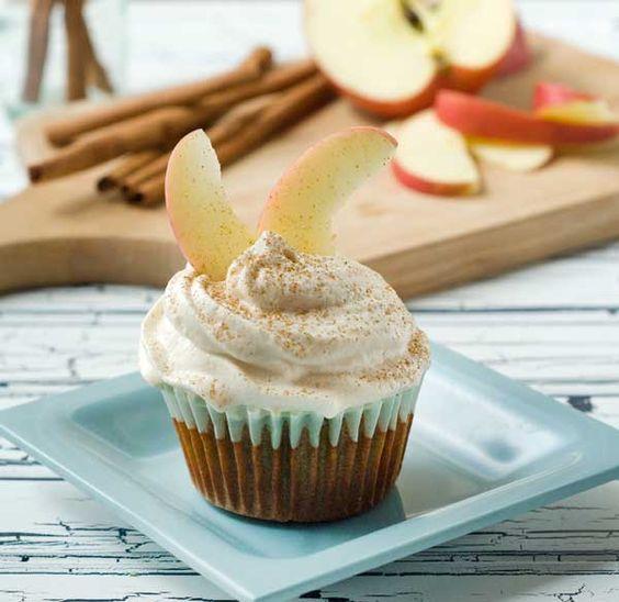 Cinnamon Apple Cupcakes - Gluten Free - Dairy Free - Sugar Free