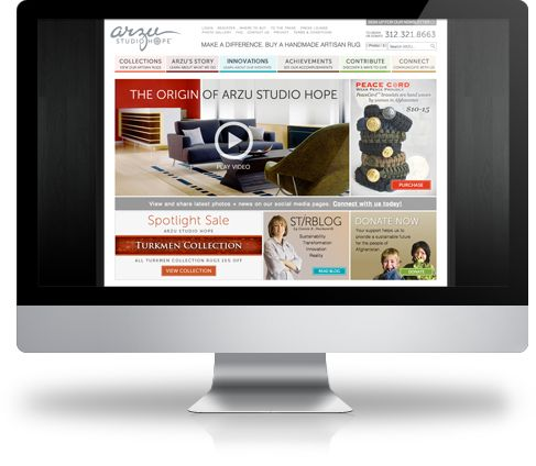 clean design and great use of visuals, video. www.arzustudiohope.org #nonprofit #website