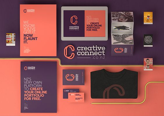 Creative Connect Branding on Motion Graphics Served
