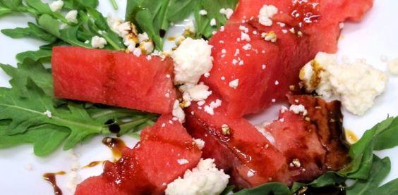 Bone Suckin' Watermelon, Arugula & Feta Salad Recipe - So Fast and Easy!