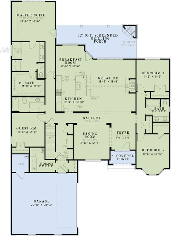 European House Design Plan: European House Plans, Floor Plans And French Country On