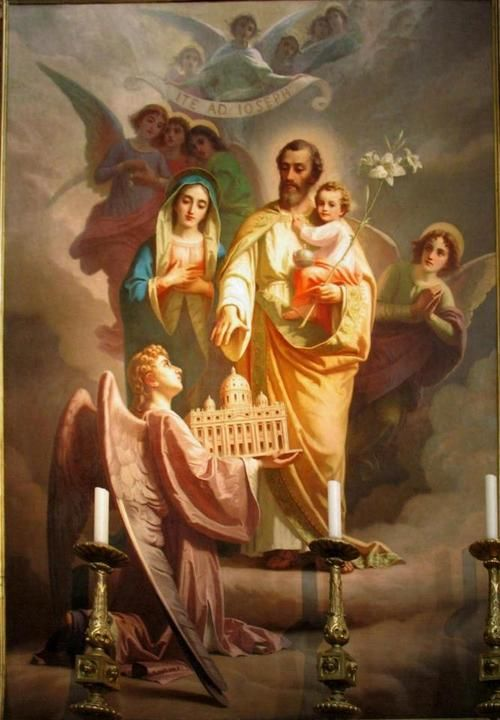 St joseph patron of the universal church painted by giuseppe rollini sacre - Saint joseph patron des charpentiers ...
