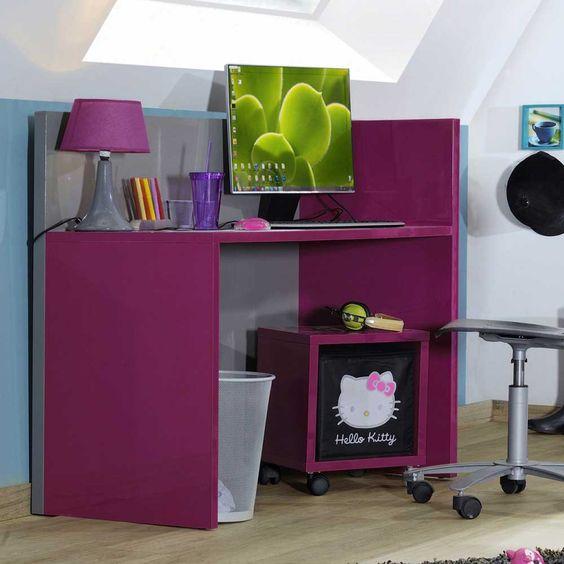 Mit diesem Schreibtisch in Pink Hochglanz bringen Sie zum Schulanfang ein tolles Möbelstück in jedes Mädchenzimmer. Sehr pflegeleichte & erstklassige Qualität. Jetzt ansehen auf Pharao24.de  http://www.pharao24.de/kinderschreibtisch-onissa-in-pink-hochglanz.html#pint
