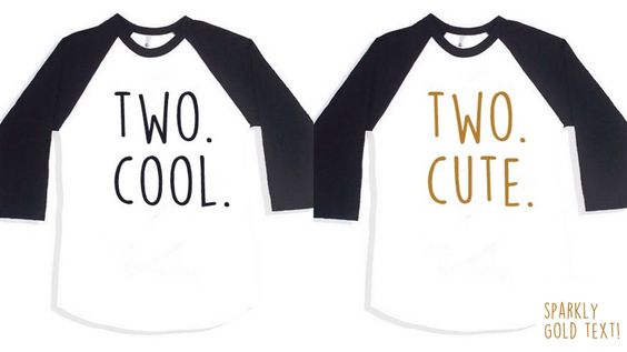 Twins 2nd birthday outfit,Set of 2 Birthday Twin Shirt,2nd birthday twin,Boy Girl Twin Shirt,Girl Boy Twin Shirt,Two Cool Two Cute Shirt Set by ThePaintedTee on Etsy https://www.etsy.com/listing/269503523/twins-2nd-birthday-outfitset-of-2