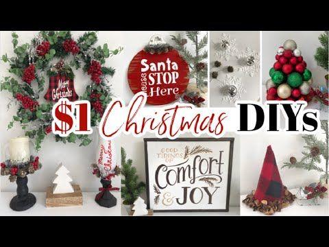 10 Dollar Tree Christmas DIYs | Easy Christmas Decor Ideas 2020