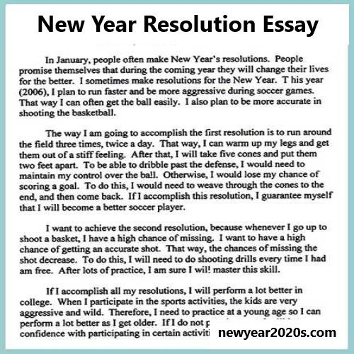 Learn How To Write A New Year Resolution Essay Happy New Year 2020 New Year Resolution Essay New Years Resolution Essay