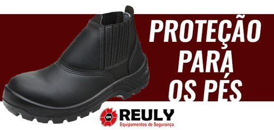 PROTEÇÃO PARA OS PÉS Reuly SEGURANÇA NO TRABALHO  EPI GOIÂNIA | EPI GO | EPIS  www.reuly.com.br/ #segurança #segurançanotrabalho #epi