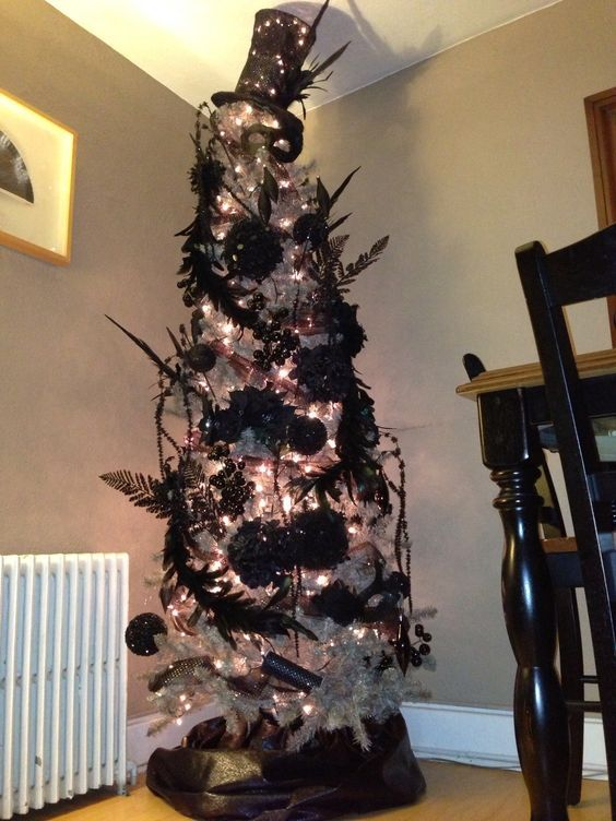 35 Black Christmas Tree Ideas Coz Everything Else Is Just Background Noise Black Christmas Tree Decorations Black Christmas Trees Holiday Christmas Tree