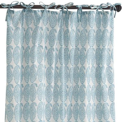 Sheer Curtains 96 sheer curtains : Pier 1 -Jaipuri Boota Tie Top Sheer Curtain - Turquoise pretty ...