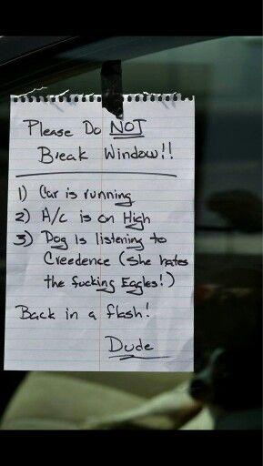 Message on car window