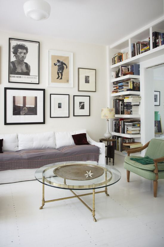 gallery wall & coffee table