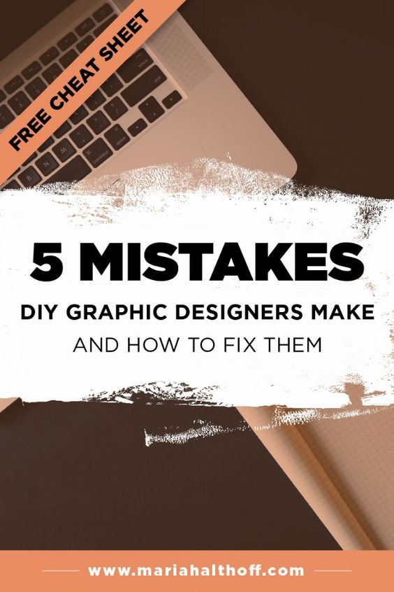 I want each and every one of you to be killer designers. But, depending on your graphic design experience, you may still be making a few of these 5 mistakes that DIY graphic designers make. Luckily, they're all super easy to fix, so click through to find out if you're making these mistakes too!
