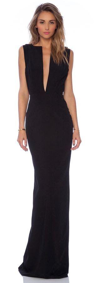 Women's fashion   Elegant black maxi dress