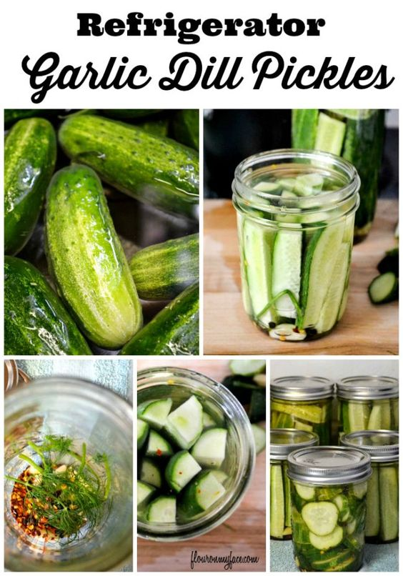 How to make easy Refrigerator Garlic Dill Pickles a homemade pickles recipe via flouronmyface.com