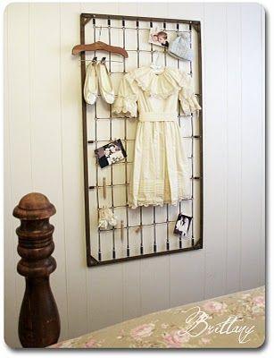 Baby box spring as display piece