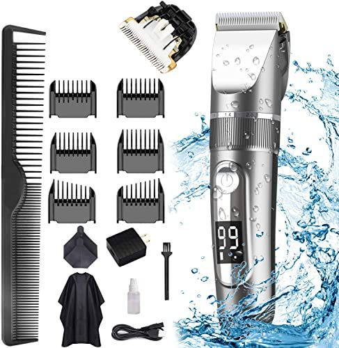 New Polentat Hair Clippers For Men Rechargeable Hair Trimmer Professional Haircut Kit Led Display Ipx7 Waterpro In 2020 Hair Clippers Ceramic Cutter Trimmer For Men