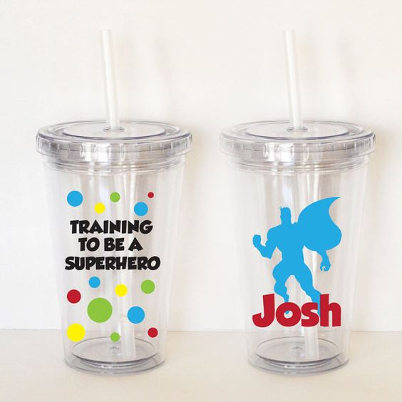 Training to be a Superhero  Personalized Acrylic by SweetSipsters, $12.00