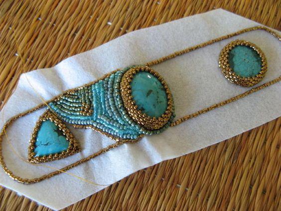 Technique bead embroidery pinterest beaded headbands