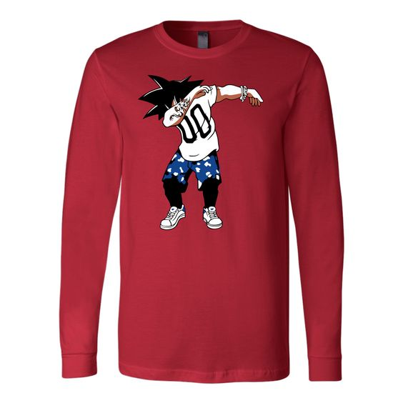 Super Saiyan Goku DAB Dance Long Sleeve T shirt -TL00233LS