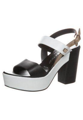 SOLE - High Heel Sandaletten - vachetta black/white/beige