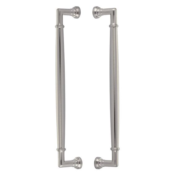 Emtek Btb86912us15 Satin Nickel Westwood 12 Inch Center To Center Back To Back Door Pull Set From The Transitional Heritage Collection In 2020 Emtek Back Doors Heritage Collection