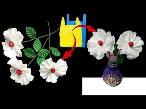 Flower From Waste Plastic Polythene Carry Bags Flower Making From