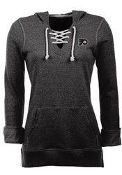 Antigua Philadelphia Flyers Womens Black Hustle Hoodie