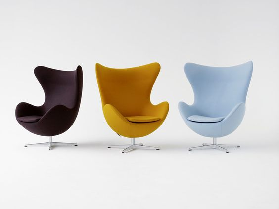 "one ice blue original ""egg chair"" please"