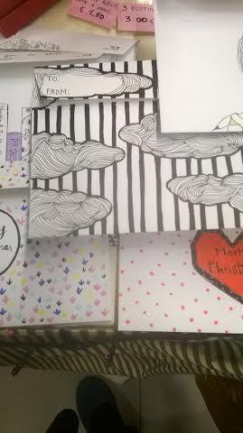 #buste e lettere decorate a mano