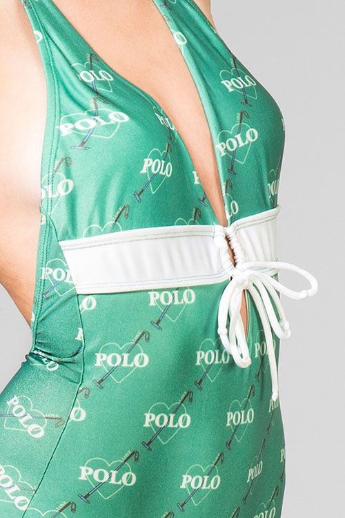 Green swimsuit | detail